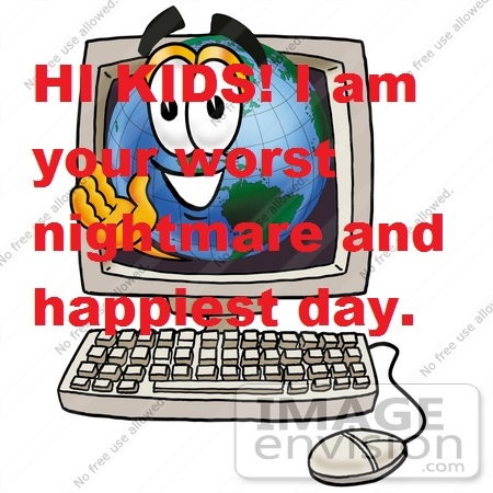 24049-clip-art-graphic-of-a-world-globe-cartoon-character-waving-from-inside-a-computer-screen-by-toons4biz